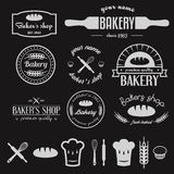 Set of vintage bakery logos, labels, badges and Royalty Free Stock Photos