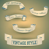Set of vintage banners,eps 10 Royalty Free Stock Image