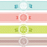 Set of vintage banners Stock Photo