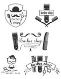 Set of vintage barber shop emblems, label, badges Stock Photo