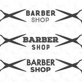 Set of vintage barber shop labels Royalty Free Stock Images
