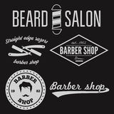 Set of vintage barber shop logo, labels, badges Stock Images