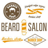 Set of vintage barber shop logo, labels, badges Royalty Free Stock Photography