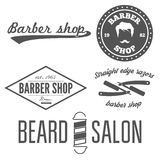 Set of vintage barber shop logo, labels, prints Stock Photos