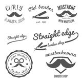 Set of vintage barber shop logo, stickers, labels Stock Image
