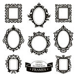 Set of vintage baroque frames Stock Image