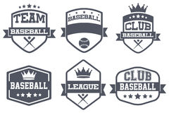Set of Vintage Baseball Club Badge and Label Stock Photography