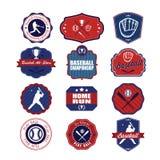 Set of vintage baseball labels and badges Royalty Free Stock Images