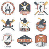Set of vintage baseball labels and badges Stock Photo