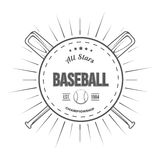 Set of vintage baseball labels and badges. Vector Royalty Free Stock Photography