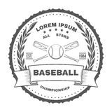 Set of vintage baseball labels and badges. Vector Stock Photos