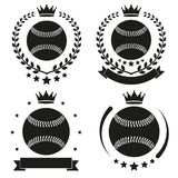 Set of Vintage Basketball Club Badge and Label Royalty Free Stock Photo