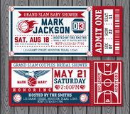 Set of vintage basketball tickets. Vectr illustration Royalty Free Stock Images