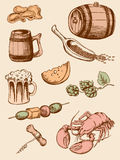Set of vintage beer icons Stock Image