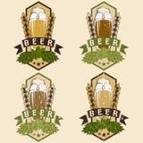 Set of vintage beer labels Royalty Free Stock Photo