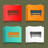 Set of vintage benches for parks and streets Royalty Free Stock Images