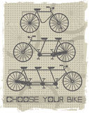 Set of vintage bicycles.  Royalty Free Stock Images