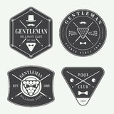 Set of vintage billiard labels, emblems and logo Stock Photos