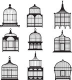 Set of vintage birdcages Stock Photo