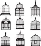 Set of vintage birdcages Stock Photo