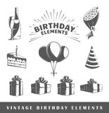 Set of vintage birthday labels Royalty Free Stock Photo