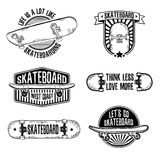 Set of vintage black and white logos, badges Stock Images