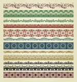 Set of vintage borders Stock Images