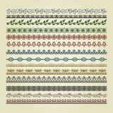Set of vintage borders Royalty Free Stock Photos