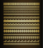 Set of vintage borders Royalty Free Stock Images