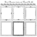 Set of vintage borders, frames. Royalty Free Stock Images