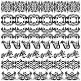 Set of vintage borders. Illustrated set of decorative vintage border patterns isolated on white background vector illustration