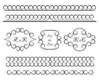 Set of vintage borders and vignettes Royalty Free Stock Photos