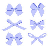 Set of vintage bows Royalty Free Stock Photo