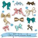 Set of vintage bows. Stock Image