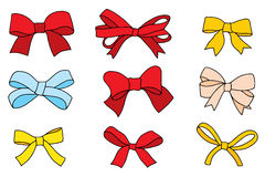 Set of vintage bows. Royalty Free Stock Image