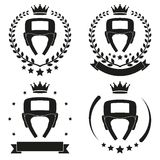 Set of Vintage Boxing Club Badge and Label Royalty Free Stock Image