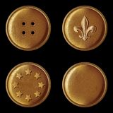 Set of vintage bronze buttons Stock Images