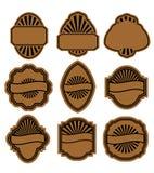 Set of vintage brown labels Stock Image