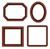 Set of vintage brown picture frames. Stock Photos