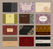 Set of vintage business cards Stock Images