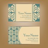 Set of vintage business cards Royalty Free Stock Image