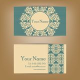 Set of vintage business cards Royalty Free Stock Images