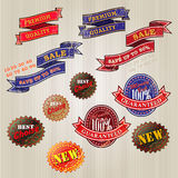Set of vintage business labels Stock Photography