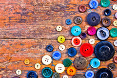 Set from Vintage buttons Royalty Free Stock Photo