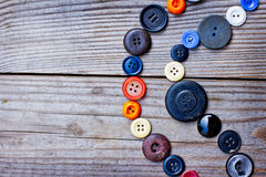 Set from Vintage buttons Royalty Free Stock Images
