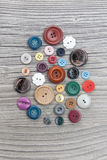 Set of vintage buttons Royalty Free Stock Photos