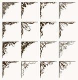 Set of 16 vintage calligraphic corners for your design. Set of 16 vintage calligraphic corners for your design vector illustration