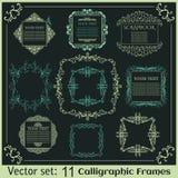 Set of Vintage calligraphic frames Stock Photo