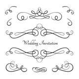 Set of vintage calligraphic vignettes Stock Images