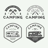 Set of vintage camping outdoor and adventure logos, badges Stock Photo
